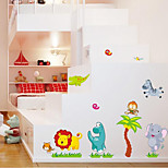 Boys And Girls Children'S Room Bedroom Wall Stickers Glass Sticker Cartoon Cute Animals