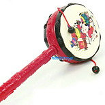 2469 Queen 24CM Stall Traditional Auspicious Rattle Hand Drum Toy New Year Festival