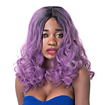 Fashion Long Curly Purple Gradient Synthetic Party Wig