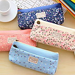Quality Korean Stationery Tian Yuanqing New Small Floral Nectar Double Zipper Pencil Case Stationery Bags