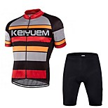 KEIYUEM®Others Men's Cycling Jersey Short Sleeves + Shorts ropa ciclismo Cycling clothing Suits #56