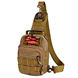 5 L Sling & Messenger Bag Camping & Hiking Outdoor Waterproof Khaki Nylon