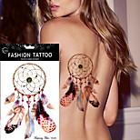 5Pcs Waterproof DIY Tattoos Sticker Women Men Body Art Dream Catcher Indian Feather Temporary Tattoos Sticker