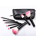 Black PU Leather Portable 9 Makeup Brush Set