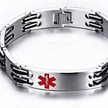 Bangles 1pc,Silver Bracelet The Symbol Of The Medical Oval 514 Titanium Steel Jewellery