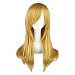 Pelucas de Cosplay Yu-Gi-Oh Aika S. Granzchesta Dorado Mediano Animé Pelucas de Cosplay 60 CM Fibra resistente al calor Hombre / Mujer