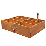 Zakka Wooden Desktop Debris Storage Box Small Object Storage Box Office Desk Coffee Table Remote Box Wooden Box