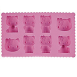 Cartoon Cat Ice Mould Silicone Ice Cubes Tray Pudding Jelly Mold