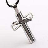 Steel Double Cross Necklace Pendant Personality Activities