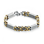 Men's Hight Quality Titanium Steel Silver/Gold Chain Bracelet