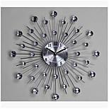 Long Reach Home Fashion Wrought Iron Diamond Wall Clock Living Room Bedroom Popular Decorative Wall Clock
