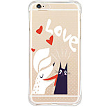 Waterproof/Transparent Cartoon TPU&Silicone Soft Shockproof Case Cover For AppleiPhone 6s Plus/6 Plus/6s/6/SE/5s/5