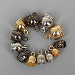 Beadia 50Pcs 6x9mm CCB Plastic End Caps Crimp Beads Covers Gold &Gunmetal&Rhodium Plated(4mm Hole)