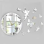 bricolaje reloj de espejo de la personalidad creativa salón