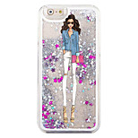 indietro Flowing Quicksand Liquido Other PC Difficile Fashion Girl Copertura di caso per Apple iPhone 6s/6
