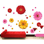 Daisy Three Color Options Glass Decorative Wall Stickers Living Room Bedroom Waterproof Removable Sticker