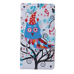 Cartoon Owl Pattern PU Leather Full Body Case with Stand and Card Slot for Samsung Galaxy S6 Active