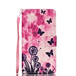 EFORCASE® Butterfly Dandelion Painted Lanyard PU Phone Case for Huawei P8lite