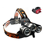 Front Bike Light / Led Rechargeable Headlamps-3 Mode 3x CREE XML T6 Beam / Rechargeable / Impact Resistant 18650x2