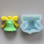 campana moldes de silicona del molde del chocolate, moldes para pasteles, moldes de jabón, herramientas de decoración para hornear