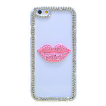 Back Rhinestone Other PC Hard Lip pattern Case Cover For Apple iPhone 6s Plus/6 Plus / iPhone 6s/6