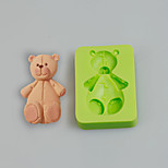 HOT Sellers Teddy Bear Silicone Molds Cake Decoration Sugarcraft Tools Polymer Clay Fimo Chocolate Candy Soap Making