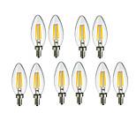 10pcs HRY® C35 4W E14 360LM 360 Degree Warm Cool White Color LED Filament Light(220-240)