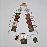 Christmas Garlands Of Paper Flags Hanging Christmas Decorations Letters Retro Style