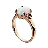 Ring Fashion Party / Daily / Casual Jewelry Alloy / Zircon / Opal Women Band Rings 1pc,6 / 7 / 8 / 9 Gold