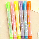 0162 Korea Stationery Candy-Colored Highlighter Marker Pen Graffiti Pen Stamp Stars