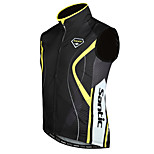 SANTIC Bike/Cycling Vest/Gilet / Jacket Men's Sleeveless Waterproof / Windproof / Thermal / Warm Polyester / 100% Polyester BlackS / M /