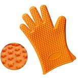 Thick 190G Stars Silicone Glove Silicone Heat Insulated Gloves Fingers 5Pcs
