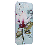 Vintage Flower Pattern Metal Frame PC painted  Hard Case for iPhone6/6s/6 Plus/6s Plus