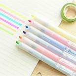 Key Pressed Highlighter Marker Color Crayons Marker Pen Striking Slant-Tip Pen