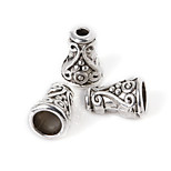 Beadia 10Pcs Alloy Beads 7x10mm Antique Silver Spacer Beads & Beads Cap