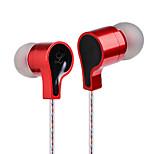 cuffia auricolare con filo del microfono orecchio metallo musica DT-213