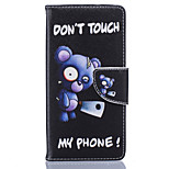 Blue Bear Pattern Card Phone Holster for Huawei P9/P9 Lite/Honor 5X