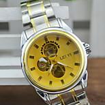 Men's Casual Auto Mechanical Alloy Band Quartz Watch