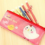 Cute Animal Mesh Bags Large Capacity Pencil Bags B6