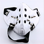 Tokyo Ghoul White Rivet Mouth Mask PU Leather