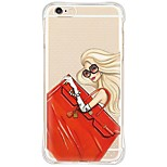 iPhone SE/5s/5/iPhone 6s 6 Plus Fashion Sexy Lady TPU&Silicone Shockproof Waterproof Soft Back Cover