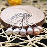 Fashionable Imitation Pearl Pierced Drop Earrings 1 pair