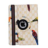 Bird Pattern 360 Degree Rotation PU Leather Case for iPad Air 2/iPad 6(Assorted Colors)