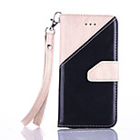 PU Leather Material Hand Stitching Color Pattern Rope Phone Case for iPhone SE / 5s / 5