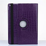 New OST Luxury Crocodile Grain Style Rotating Stand PU Leather Case Protective Cover For Apple iPad 6/Air 2