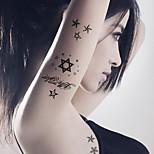 5PCS Fashion Star Body Art Waterproof Temporary Tattoos Sexy Tattoo Stickers (Size: 3.74'' by 5.71'')