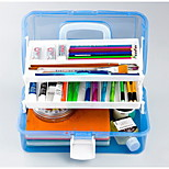 667 Transparent Plastic Toolbox Versatile Painting Art Painting Box Storage Three Box Nail Box
