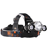 3Pcs LED CREE T6+2R5 Headlamp Range 800m Waterproof Long Life Time Ultra Bright Headlight Hands-free Flashlight Lamp
