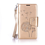 For Wiko Lenny2 Luxury Retro Dandelion Diamonds embossed wallet Phone Cover With Stand Card Holder