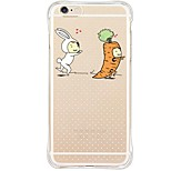 Back Shockproof/Dustproof/Waterproof/Transparent Cartoon TPU Soft Cover For i6s Plus/6 Plus/6s/6/SE/5S/5